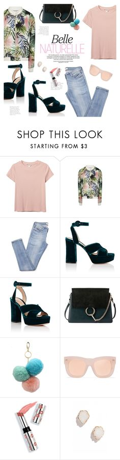 """""""Vacay"""" by lisalockhart ❤ liked on Polyvore featuring Monki, Gianvito Rossi, Chloé, Under One Sky, Acne Studios, Ciaté and Kendra Scott"""