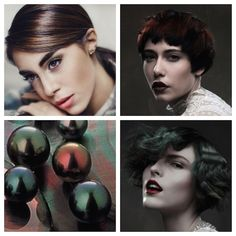 Muted versions of bright hues are an intriguing choice for cold weather fashions. The hair colors shown here feature a tarnished overlay of dark pearlescence which lends an air of mystery. Choose f...