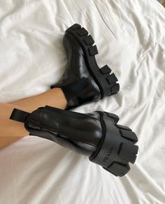 These Prada boots are 🔥 . 📸 Cass DiMicco These Prada boots are 🔥 . Cute Shoes, Tap Shoes, Me Too Shoes, Dance Shoes, Shoes Heels, Prada Shoes, Shoes Tennis, Tennis Sneakers, Sneakers Mode
