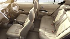 Nissan Sunny Features Comfortable seat arrangements.