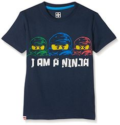 Mit Motivdruck LEGO Ninjago mit 3 Ninjas. 40 * washable, do not iron too hot-printing only from the left, do not tumble dry   http://www.costlinks.com/uk/product/lego-wear-boys-t-shirt/