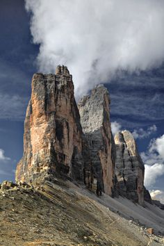 Landscape, Three Peaks Dolomites Tre Cime Lavaredo