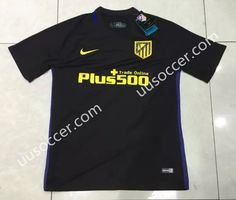 Without LFP 2016-17 Atletico Madrid Away Black Thailand Soccer Jersey AAA