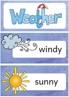 How is the weather today? Preschool Weather, Weather Science, Learning English For Kids, Teaching English, Languages Online, Foreign Languages, Weather Like Today, Daily Weather, English For Beginners