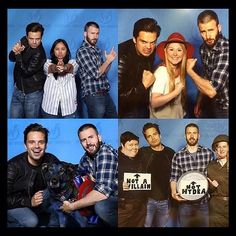 Fans meeting Chris Evans and Sebastian Stan at wizard world comic con! - - Im just here looking at these pictures