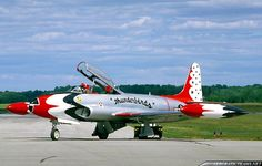 The T-33 served with the Thunderbirds in this capacity in the 1950s and 1960s.