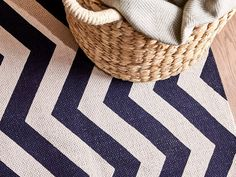 Our Dune rug offers a vibrant and modern graphic design that is printed on to 100% cotton in a stylish deep blue, making it versatile in either a contemporary or modern style of home.