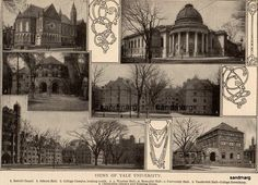 1907 Yale University Edwardian Photogravure Print