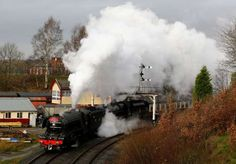 The Flying Scotsman steam engine leaves East Lancashire Railway in Bury, Britain January 8, 2016. - REUTERS/Darren Staples