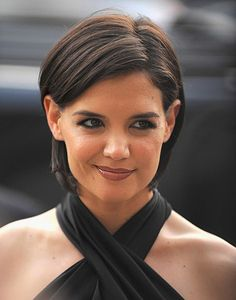 Katie Holmes with her beautiful short hair.