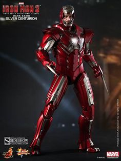 Iron Man has claws with the Iron Man Silver Centurion Mark 33 Sixth-Scale Figure, indicating that perhaps Tony Stark got a little inspiration from the X-Men's Wolverine? Unfortunately, this suit of armor doesn't really have claws but it does come equipped with forearm blades, which is pretty clos