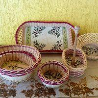 sada košíků OLIVA (možno koupit i jednotlivé kusy) the set of baskets OLIVA (possible to buy as individual pieces)