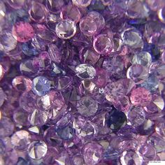 Diamond Cut Round Purple Sapphire Melee Purple Sapphire, Amethyst Color, Sapphire Gemstone, Gemstone Colors, Glitters, Stones And Crystals, Diamond Cuts, Gemstones, Jewelry