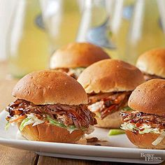 BBQ Pulled Pork Sliders From Better Homes and Gardens, ideas and improvement projects for your home and garden plus recipes and entertaining ideas.