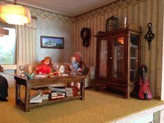 Huiskamer van mijn Albin Schönherr huis met Caco popjes