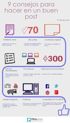 Nueve consejos para hacer un buen post #socialmedia #marketing