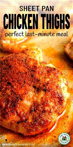 #chickenthighs #ovenroasted #lastminute #roasted #chicken #perfect #minutes #thighs #simple #read... Oven Roasted Chicken Thighs, Bake Chicken In Oven, Baked Boneless Chicken Thighs, Keto Chicken Thighs, Boneless Skinless Thigh Recipe, Chicken Thigh Seasoning, Chicken Thigh Marinade, Chicken Thighs Dinner, Air Fryer Chicken Thighs