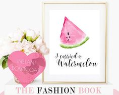 dirty dancing, funny bedroom print, teen room decor, printable art, movie quote, bedroom decor, art printable, I carried a watermelon