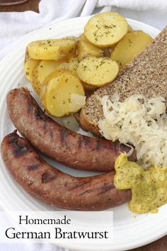 Don't let homemade sausage intimidate you. If you've ever wanted to make your own German Bratwurst, this easy Homemade Bratwurst recipe is for you! #german #sausage