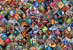2000 Piece Puzzle, Disney Pixar Movies, Jigsaw Puzzles, Collage, Painting, Birthday Ideas, Art, Smile, Kunst