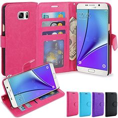Note 5 Case LK Galaxy Note 5 Wallet Case Luxury PU Leather Case Flip ...