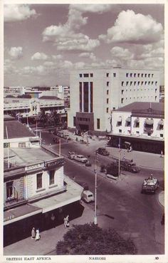 Nairobi View 1958.  We arrived in '63.  Looked about the same.
