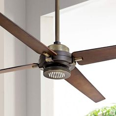 "60"" Minka Aire Spectre Bronze - Brass LED Ceiling Fan - #8Y270 