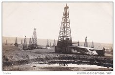 RP: Oil Center, Kern River Oil Fields near Bakersfield, California , 1908 View #5 - Delcampe.com