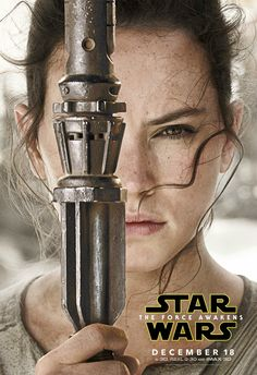 Rey and Her Bo Staff - Star Wars: The Force Awakens