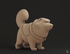 Cg model based on a character design for the 1995 animated feature Balto, from Amblin animation studios.