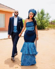 and 's traditional wedding 💍💍💍💍 . Sotho Traditional Dresses, South African Traditional Dresses, Traditional Wedding Attire, African Print Wedding Dress, African Wedding Attire, African Attire, African Weddings, African Prom Dresses, Latest African Fashion Dresses