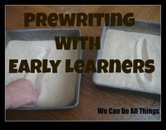 we can do all things: prewriting with early learners