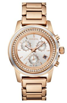 Breil+'Orchestra'+Crystal+Bezel+Chronograph+Bracelet+Watch,+37mm+available+at+#Nordstrom
