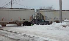 ALPENA, MI – On Friday, February 13th, 2015, around 12:00pm, a minivan and a Lake States Railroad Train collided in Alpena.