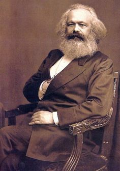 Karl Marx, London c.1875 // by John Jabez Edwin Mayall