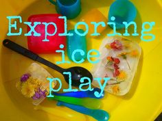 Ice play- cold and hot concepts