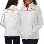Denver Broncos Ladies Spectator Quilted Full Zip Jacket - White