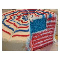 Homestead Survival Hidden Flag cake found on Polyvore
