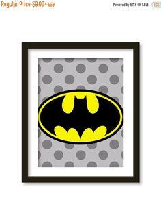 Spring sales BATMAN Super hero print kids wall by babiesartroom