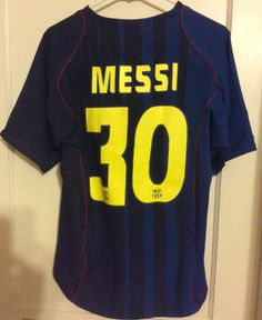 a32544d3b Lionel Messi Barcelona 2004-2005 Away Lionel Messi Barcelona