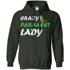 Crazy Parakeet Lady Pullover Hoodie 8 oz