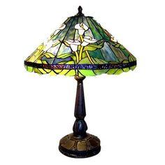 Warehouse of Tiffany TF18228TL 2 Light Style Tulip Table Lamp