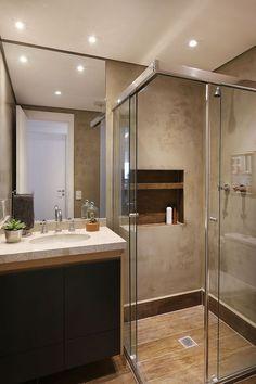 Easy Shower Remodel and Shower Remodel Diy Walk In. Bathroom Design Small, Bathroom Layout, Bathroom Interior Design, Decor Interior Design, Modern Bathroom, Bad Inspiration, Bathroom Inspiration, Small Shower Remodel, Appartement Design