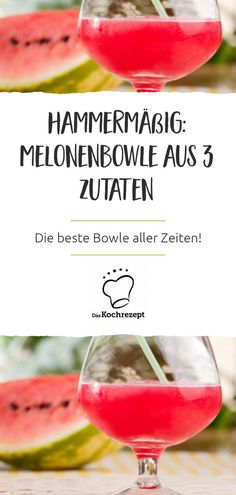 Was gibt es erfrischenderes als eine kalte Melonenbowle im Sommer? Diese Bowle w… What is more refreshing than a cold melon punch in the summer? This punch is made with white wine and sweetened with a little honey. Clean Eating Dinner, Clean Eating Snacks, Healthy Smoothies, Smoothie Recipes, Watermelon Birthday Parties, Vodka, Snacks Sains, Food Wallpaper, Nutrition