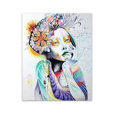 En Vogue is a contemporary canvas painting that depicts a woman as a trendsetter. The painting is filled with different floral patterns that symbolize the beauty of a woman. This is ideal if you are looking to incorporate a chic look your interior home or office design. #art #artist #artwork #wallart #walldecor #home #homedecor #decor #decoration #interior #interiordecor #canvas #crafts #diy
