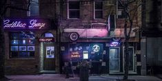 """Cadillac Lounge - The Cadillac Lounge, an iconic music venue and bar, in the Parkdale Neighborhood of Toronto - Big World Art - """"Share this Pin! Nocturne, Open Live, Wattpad, Channel, Neon Lighting, Photoshop Actions, Live Music, Free Photos, Free Images"""