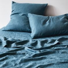 Linen Flat Sheet - Aegean — Sage and Clare