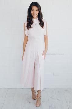 finders keepers evolution jumpsuit - light pink  