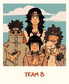 go team eight! aka sharingan?, bug boi, shy qt, and literal dogs