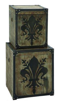yes, we have these! Fleur-de-Lis Storage Box